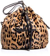 Jerome Dreyfuss Alain leopard-print calf hair bag