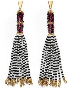 Rebecca Minkoff Seed Bead Tassel Drama Earrings