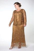 Soulmates C12016X Queen Beaded Hand Crochet Bolero Jacket Dress Set