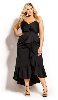 City Chic Passion Maxi Dress - black