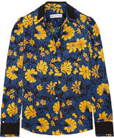 Altuzarra Marlowe Floral-print Silk-jacquard Blouse