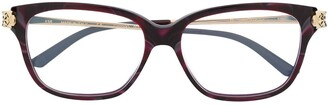 Cartier Panthere rectangular frame glasses