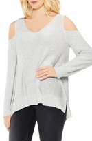 Vince Camuto Women's Cold Shoulder V-Neck Sweater