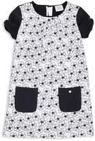 Armani Junior Girls' Floral Shift Dress - Little Kid, Big Kid