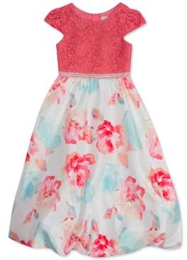 Rare Editions Little Girls Lace Bubble-Hem Dress