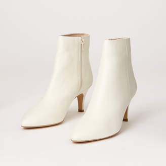 Warehouse LEATHER POINTED ANKLE BOOTS