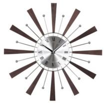 Stilnovo Wooden Espresso Spindle Clock