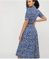 Monsoon Darella Ditsy Print Jersey Shirt Dress - Blue