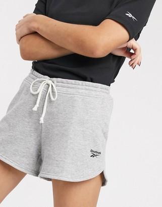 Reebok Training terry shorts in grey