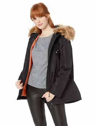 Madden-Girl Women's Plus Size Nylon Fashion Anorak Jacket