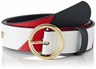 Tommy Hilfiger Women's New Th Round Buckle 3.5 Belt