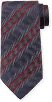 Giorgio Armani Diagonal Stripe Silk Tie, Gray/Red