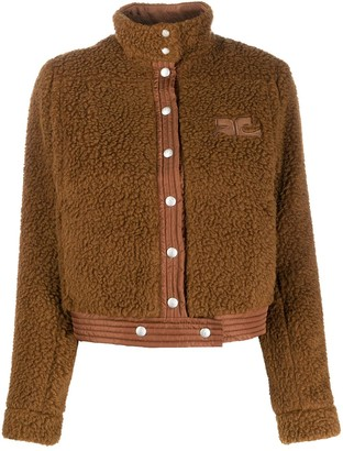 Courreges Cropped Shearling Jacket
