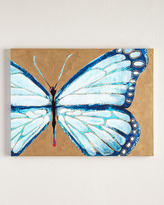 "Horchow Jennifer Moreman ""Evelyn"" Blue Butterfly"