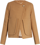 See by Chloe Patch-pocket wool-blend coat