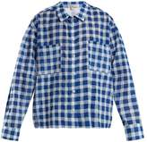 Natasha Zinko Gingham cotton-seersucker shirt