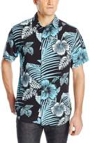 Margaritaville Men's Short Sleeve Bbq Shirt - Deep Floral