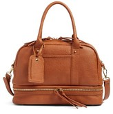 Sole Society Mai Mini Faux Leather Satchel - Brown