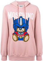 Moschino Transformer Bear hoodie - women - Cotton/Polyester/Polyurethane - 38