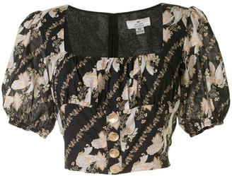 We Are Kindred Bronte paisley-print bustier blouse