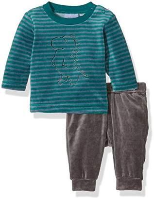 "Twins Baby Boys Clothing Set Graphic ""Dino"", Multicoloured (grau/grün-gestreift), 50"