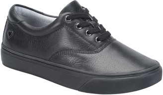 Nurse Mates Leather Lace Up Sneakers - Fleet