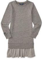 Ralph Lauren Ruffled-Hem Fleece Dress