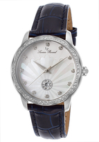 Lucien Piccard Blue & Mother-of-Pearl Balarina Leather-Strap Watch - Women