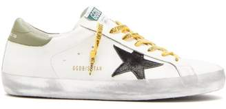 Golden Goose Superstar Leather Trainers - Mens - White Black