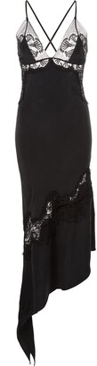 Kiki de Montparnasse Silk And Lace Slip Dress