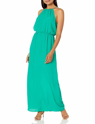 Lark & Ro Amazon Brand Women's Sleeveless Blouson Gathered Neck Maxi Dress