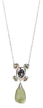 Alexis Bittar Future Antiquity Multi-Crystal Cluster & Lucite Pendant Necklace, 16-19