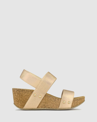 Airflex Fluid Cork Wedge Sandals