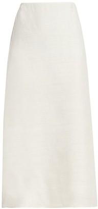 Prada Gauzy Silk Midi Skirt
