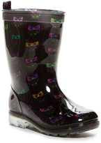Capelli of New York Shiny Smart Owls Rain Boot (Little Kid & Big Kid)