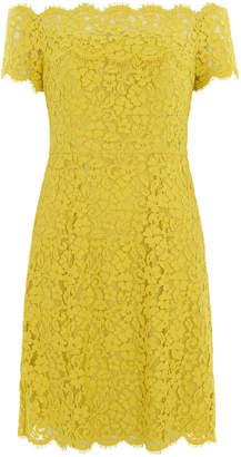Whistles Off Shoulder Short Lace Dress