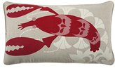 Thomas Paul Lobster Pillow, 12 by 20-Inch, Tomato