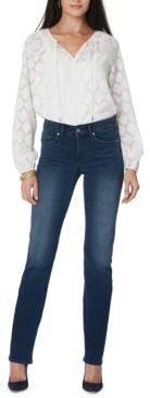 NYDJ Petite Marilyn Straight-Leg Jeans