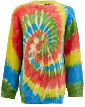 Loewe Paula's Ibiza - Rainbow Tie Dye-jacquard Cashmere Jumper - Green Multi