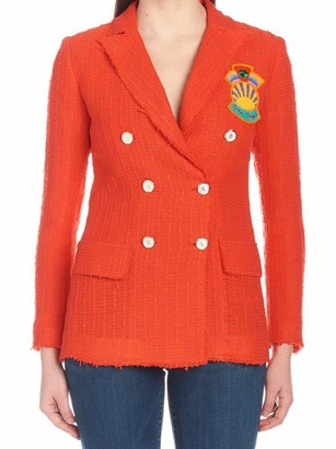 Giada Benincasa Patch Double-Breasted Blazer