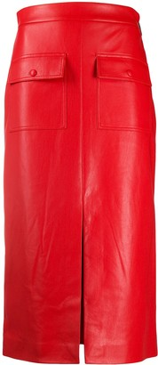 MSGM High-Waisted Slit Skirt