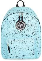 Hype Black Paint Speckle Print Backpack*