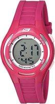 Skechers Women's 'Pop Digi' Quartz Plastic and Polyurethane Casual Watch, Color:Pink (Model: SR2069)