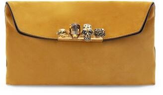 Alexander McQueen Four-Ring Skull Clutch Bag