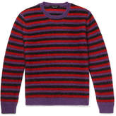 Marc Jacobs Striped Mohair-blend Sweater - Red