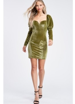 Emory Park Long Sleeve Square Neck Mini Knit Dress