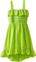 Amy Byer Girls 7-16 High-Low Knit Dress with Smocked Bodice