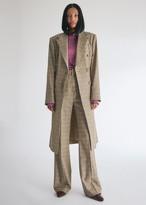 Nanushka Women's Greta Tailored Coat in Check, Size Small | Wool