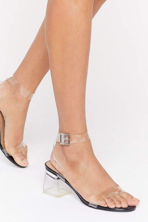e814c8f713e Womens Steer Clear Of 'Em Perspex Block Heels - Black - 3