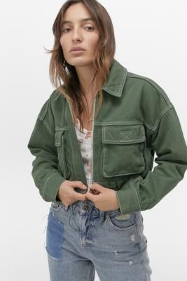 BDG Supercrop Utility Jacket - Green XS at Urban Outfitters